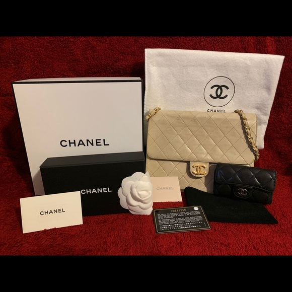 CHANEL Handbags - Classic Flap Quilted Lambskin & 6Key Holder Wallet